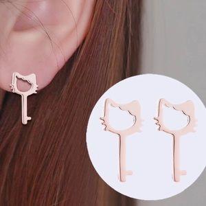HELLO KITTY KEY ♡ Stainless Steel Earrings